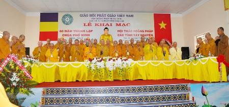 Lễ khai mạc Hội thảo Hoằng pháp khu vực Tây nguyên năm 2015