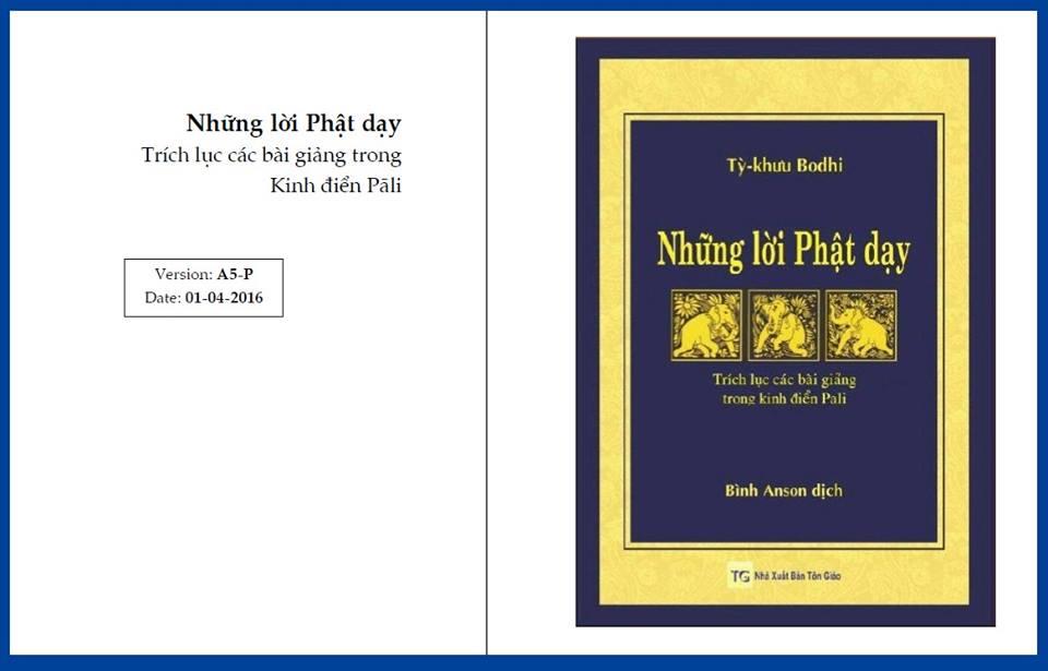 Về quyển Những Lời Phật Dạy - Chia sẻ vài kinh nghiệm