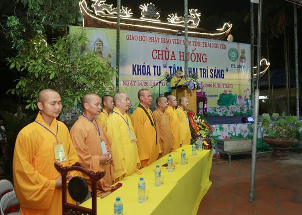 """Thái Nguyên: Chùa Huống Thượng tổ chức khoá tu """"Tâm khai trí sáng"""""""
