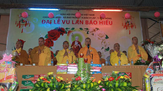 Đăk Nông: Đại lễ Vu Lan Báo Hiếu Pl. 2560 - 2016 tại Chùa Hoa Khai