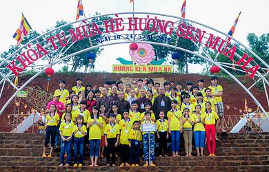 Đăk Nông: Bế mạc Khóa tu mùa hè Hương Sen Mùa Hạ lần 6 năm 2015