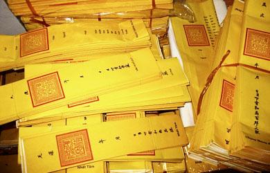 Văn Điệp Hán Tự Bắc tông dùng trong Tang Lễ