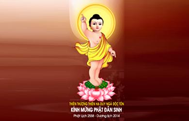 Ảnh Đức Phật Thích Ca Đản Sanh Chào mừng Vesak 2014