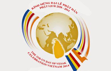 Logo chính thức Đại lễ Phật đản Liên Hợp Quốc 2014 - Vesak lần thứ 11