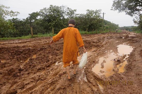 Đăk Nông: Lầy lội Mùa Vu Lan 2017 tại Đạo tràng Phước Bảo Đăk Ngo, Huyện Tuy Đức