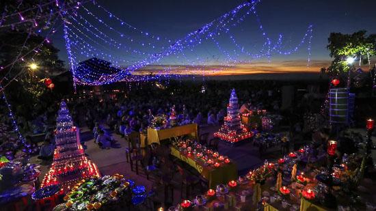 Đăk Nông: Chùa Liên Hoa - TT Kiến Đức Lung linh đêm hội Dược Sư cầu an đầu năm
